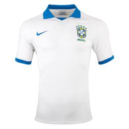 low priced e8a9e a440d 2019 Brazil Away White soccer Jerseys Shirt(Player Version)