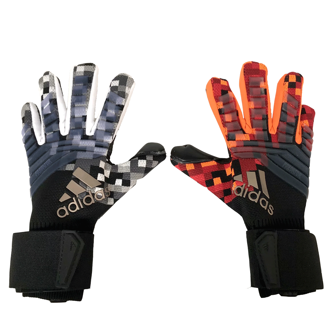 AD White&Orange Predator Pro Goalkeeper Gloves
