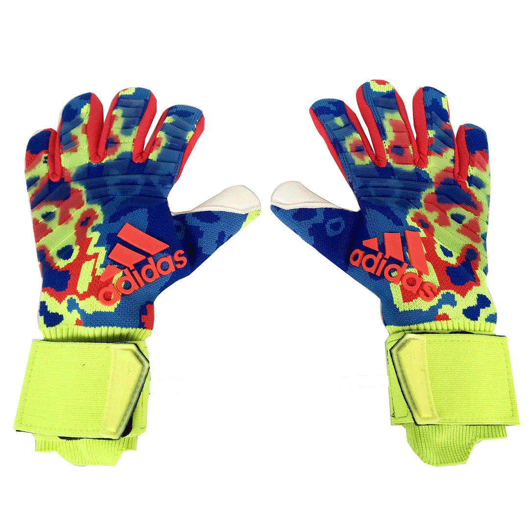 AD Camouflage Blue Predator Pro Goalkeeper Gloves