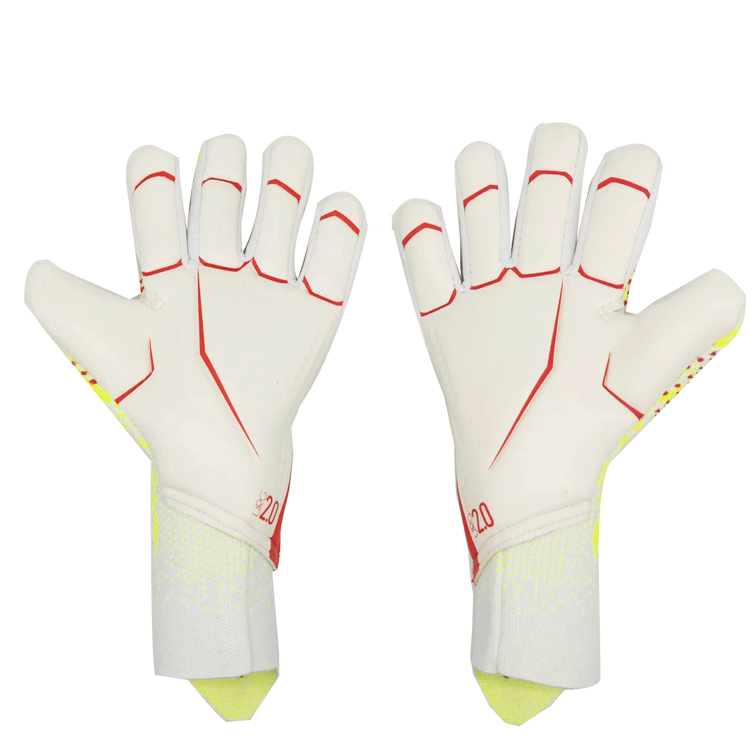 AD White&Yellow Pradetor A12 Goalkeeper Gloves