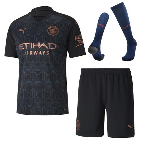 Manchester City Away Jersey Kit 2020/21 (Shirt+Shorts+Socks)