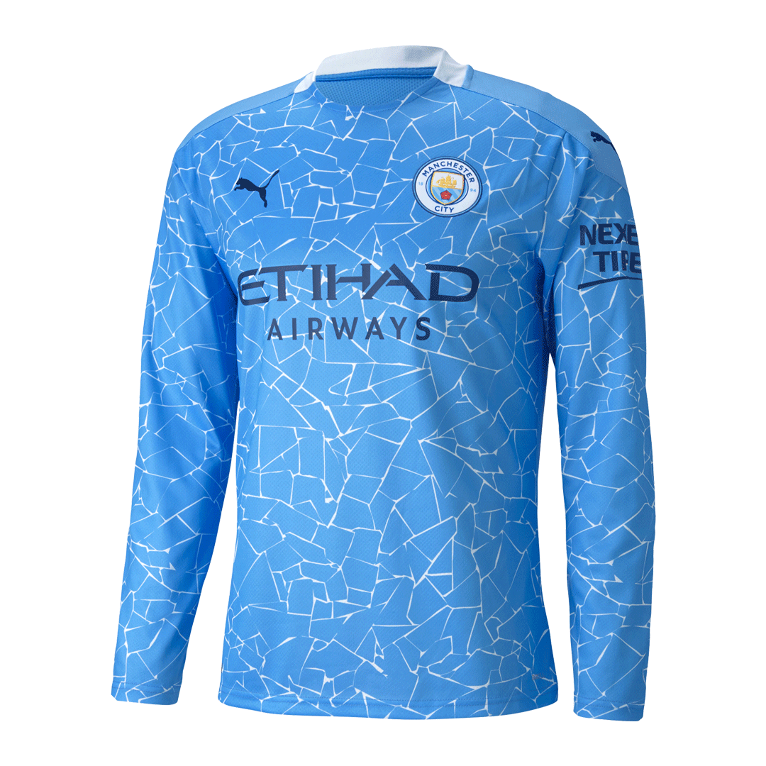 Manchester City Home Jersey 2020/21 - Long Sleeve
