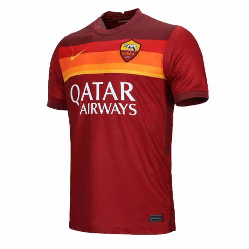 20/21 Roma Home Red Soccer Jerseys Whole Kit(Shirt+Short+Socks)