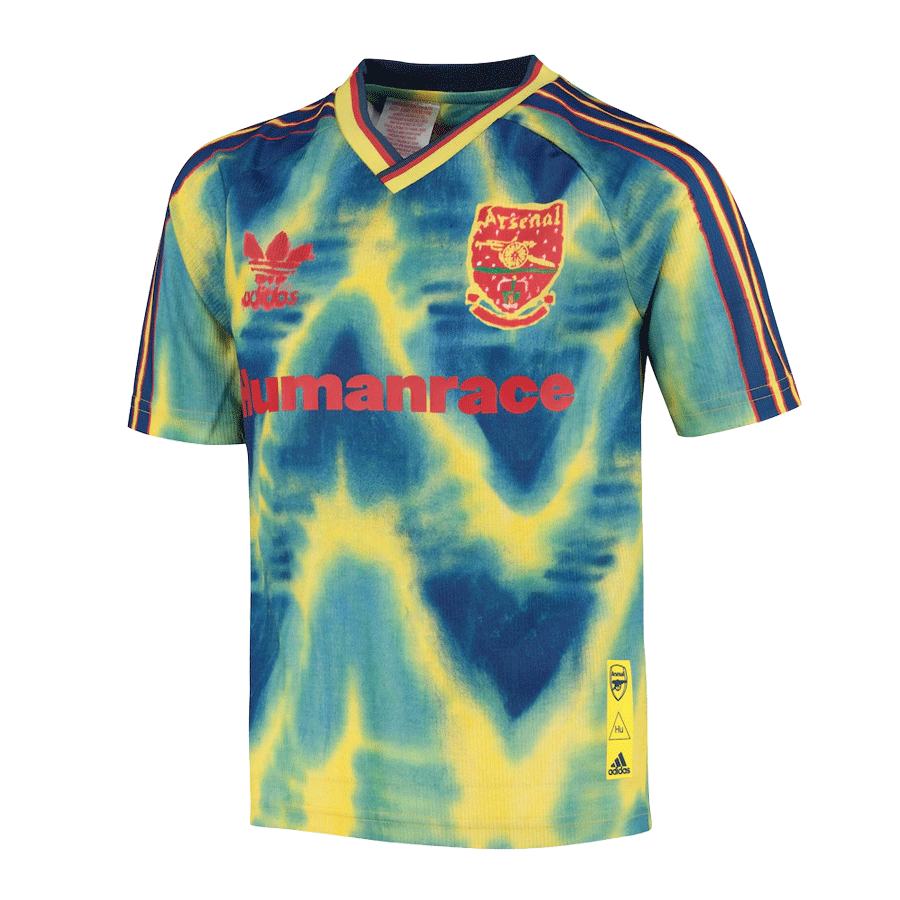 Arsenal Human Race Blue&Green Soccer Jerseys Shirt