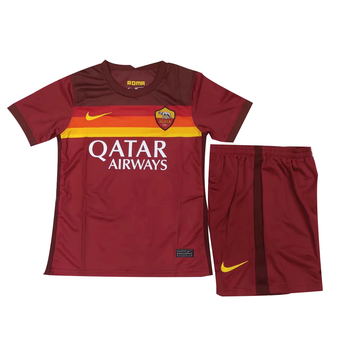 20/21 Roma Home Red Children's Jerseys Kit(Shirt+Short)