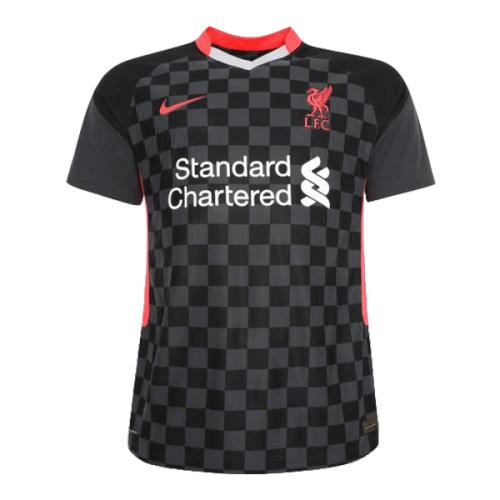 20/21 Liverpool Third Away Black Soccer Jerseys Whole Kit(Shirt+Short+Socks)