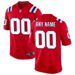 Men's New England Patriots Nike Red Alternate Vapor Limited Jersey
