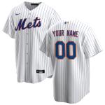 Men's New York Mets Nike White&Royal Home 2020 Replica Custom Jersey
