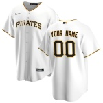 Men's Pittsburgh Pirates Nike White Home 2020 Replica Custom Jersey