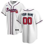Men's Atlanta Braves Nike White Home 2020 Replica Custom Jersey