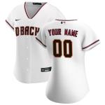 Women's Arizona Diamondbacks Nike White 2020 Home Replica Custom Jersey