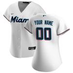Women's Miami Marlins Nike White 2020 Home Replica Custom Jersey