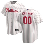 Men's Philadelphia Phillies Nike White&Red Home 2020 Replica Custom Jersey