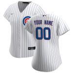Women's Chicago Cubs Nike White&Royal 2020 Home Replica Custom Jersey