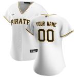 Women's Pittsburgh Pirates Nike White 2020 Home Replica Custom Jersey