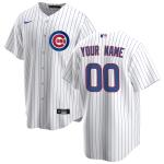 Men's Chicago Cubs Nike White&Royal Home 2020 Replica Custom Jersey