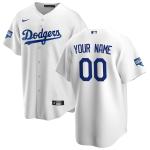 Men's Los Angeles Dodgers Nike White 2020 World Series Champions Home Custom Replica Jersey