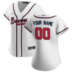 Women's Atlanta Braves Nike White 2020 Home Replica Custom Jersey