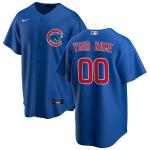 Men's Chicago Cubs Nike Royal Alternate 2020 Replica Custom Jersey