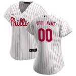 Women's Philadelphia Phillies Nike White&Scarlet 2020 Home Replica Custom Jersey