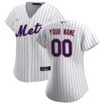 Women's New York Mets Nike White&Royal 2020 Home Replica Custom Jersey