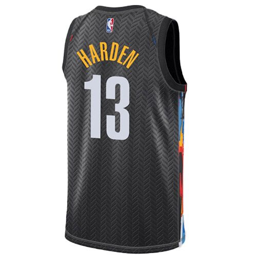 Men's Brooklyn Nets James Harden #13 Nike Black 2020/21 Swingman Jersey - City Edition