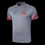 Liverpool Polo Shirt 2020/21 - Gray