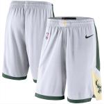 Milwaukee Bucks NBA Shorts Swingman 2020/21 Nike White/Hunter Green - Association