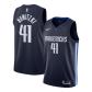 Dallas Mavericks Nowitzki #41 NBA Jersey Swingman Nike Navy - Statement