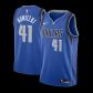 Dallas Mavericks Dirk Nowitzki #41 NBA Jersey Swingman Nike - Royal - Icon