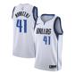 Dallas Mavericks Dirk Nowitzki #41 NBA Jersey Swingman Nike - White - Association