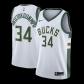 Milwaukee Bucks Giannis Antetokounmpo #34 NBA Jersey Swingman Nike - White - Association