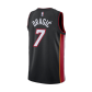 Miami Heat Goran Dragic #7 NBA Jersey Swingman Nike - Black - Icon