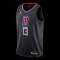 Los Angeles Clippers Paul George #13 NBA Jersey Swingman 2020/21 Jordan - Black - Statement