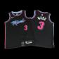 Miami Heat Dwyane Wade #3 NBA Jersey Swingman Nike - Black