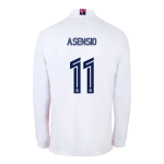 Real Madrid Asensio #11 Home Jersey 2020/21 - Long Sleeve