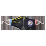 Manchester City Soccer Face Mask - Black