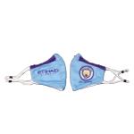 Manchester City Soccer Face Mask - Light Blue