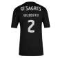 Benfica GILBERTO #2 Away Jersey Authentic 2020/21