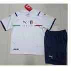 Italy Away Jersey Kit 2021 Kids(Jersey+Shorts)