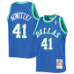 Dallas Mavericks Dirk Nowitzki #41 NBA Jersey 1998/99 Blue - Classic