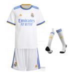 Real Madrid Home Jersey Kit 2021/22 Kids(Jersey+Shorts+Socks)