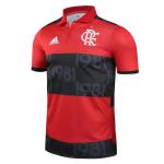 CR Flamengo Polo Shirt 2021/22 - Red&Black