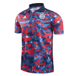 Bayern Munich Polo Shirt 2021/22 - Dark blue&Red