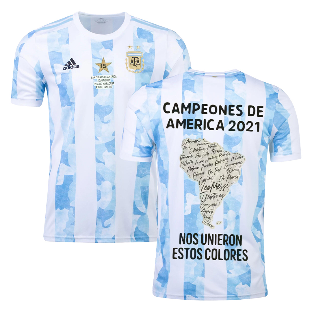 Argentina Home Jersey Authentic Copa America 2021 Winner Version