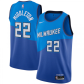 Milwaukee Bucks Khris Middleton #22 NBA Jersey Swingman 2020/21 Nike Blue - City