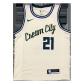 Milwaukee Bucks Jrue Holiday #21 NBA Jersey Swingman Nike Cream - City