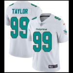 Men's Miami Dolphins Taylor #99 Nike White Vapor Limited Jersey