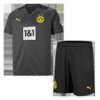 Borussia Dortmund Away Jersey Kit 2021/22 Kids(Jersey+Shorts)