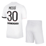 PSG Messi #30 Away Jersey Kit 2021/22 (Jersey+Shorts)